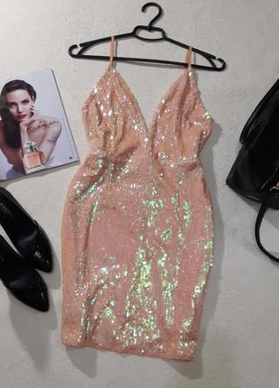 Красивая мерцающае платье. размер s