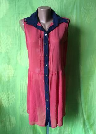 Легкая блуза платье 52 p
