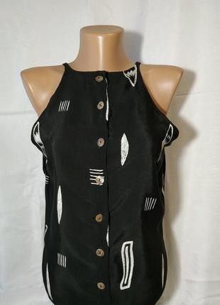 Маечка майка wallis  черного цвета с белыми вставками размер хс-с