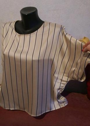Стильный оверсайз!брендовая базовая блузочка в полоску,mango suit