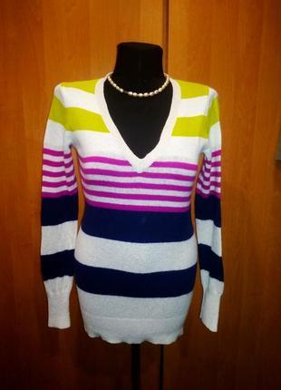 Пуловер 44-46 old navy в цветную полоску