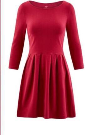 Платье винного цвета oodji