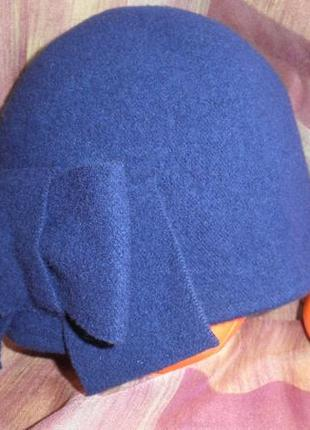 Изящная теплая шерстяная шляпа шапка seeberger с бантом