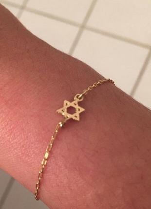 Очень красивый женский браслет звезда давида 8 марта золото ювелирное украшение