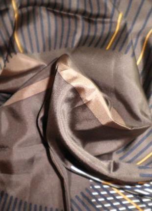 Платок шарф элегантный натуральный шелк jjbenson шов роуль 88x88 см