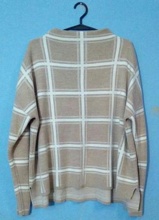 Модный женский  свитер, кофта, принт клетка