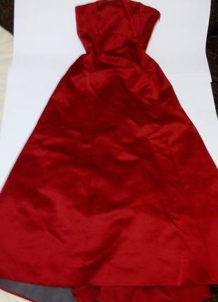 Красное длинное вечернее платье 46 48 размер скидка топ sale