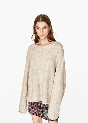 Свитер oversized zara knit, with wool