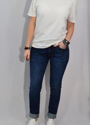 1387/100 плотные темно-синие джинсы noname m l