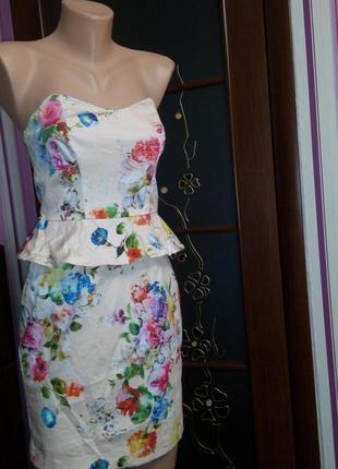 Платье офисное 46 размер футляр мини нарядное бюстье топ лук скидка oasis