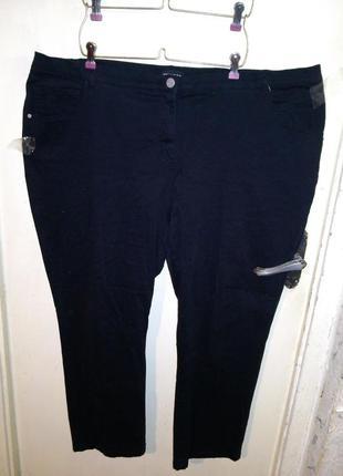 Натур.,эластичные,джинсы-брюки с высокой посадкой,очень больш.разм,miamoda,германия