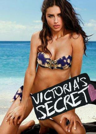Купальник-бандо с брошью victoria's secret м