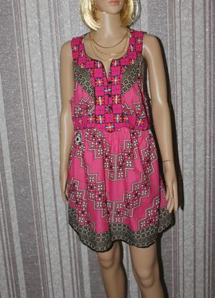 Легкое летнее платье с вышивкой для будущей мамочки