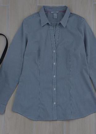 P xl базовая приталенная рубашка в полоску ! бангладеш