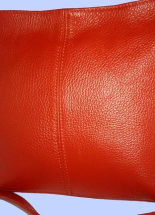 Стильная вместительная сумка натуральная кожа borse in pelle италия
