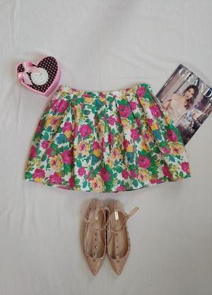 Пышная юбка в цветочный принт от topshop
