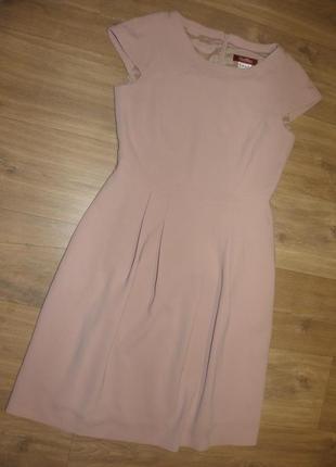 Пудровое платье миди max mara