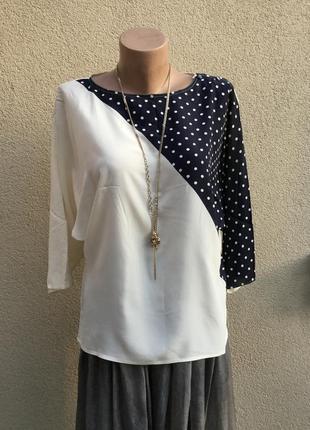 Винтаж,очень красивая,блуза-реглан,кофточка,горохи,эксклюзив,италия,шёлк100%,1