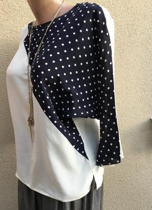 Винтаж,очень красивая,блуза-реглан,кофточка,горохи,эксклюзив,италия,шёлк100%,2