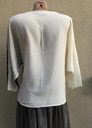 Винтаж,очень красивая,блуза-реглан,кофточка,горохи,эксклюзив,италия,шёлк100%,3