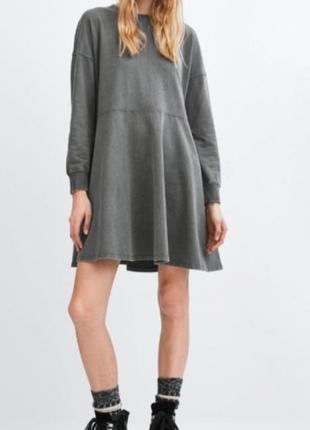 Платье свитшот платье худи zara оригинал oversize