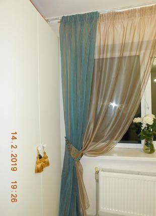Декоративные шторы. тюль с флоком1
