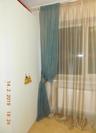 Декоративные шторы. тюль с флоком3