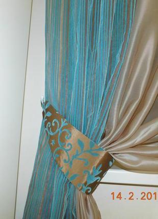 Декоративные шторы. тюль с флоком4 фото