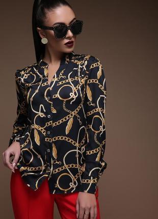 Перья-цепи блуза эльвира