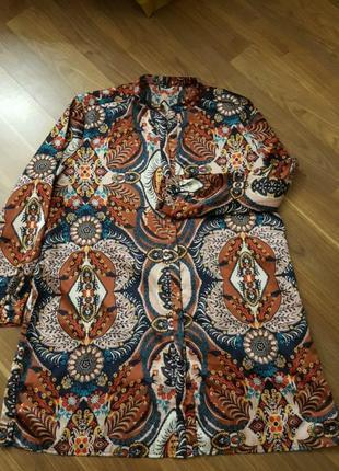 Платье рубашка большого размера6 фото
