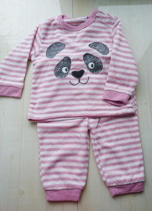 Махровый костюм- пижама для девочки
