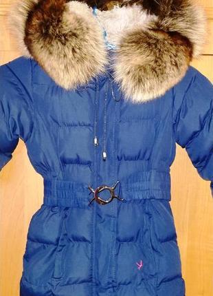 Пальто с натуральным мехом 1.5-3.5 года зима