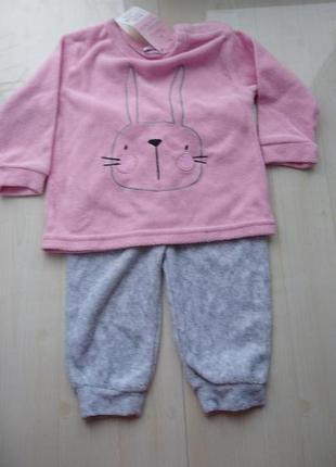 Махровый костюм-пижамка для малышки