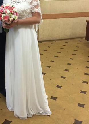 Платье женское в пол свадебное