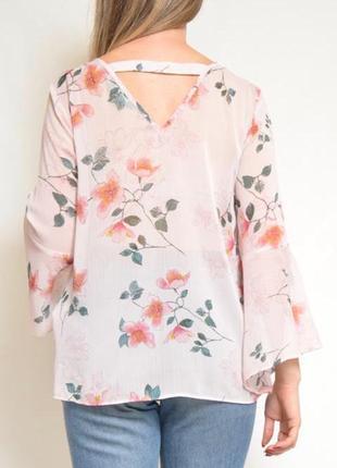 Легкая блуза с актуальными рукавами