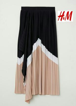 Шикарная юбка плиссе, с запахом. h&m. 34(xs) и 32(xxs).