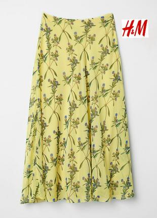 Летняя, воздушная, шифоновая юбка. h&m.34(xs)