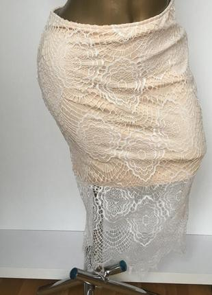 Кружевная юбка nude missguided