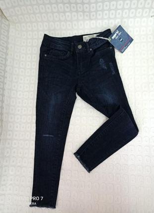 Моднявие рвание джинси скини для модними, 122рост,heidi klum