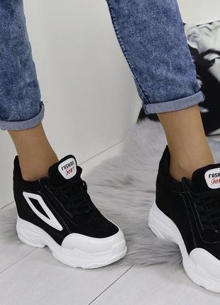 Новые черные кроссовки сникерсы размер 36-40