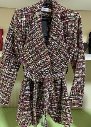 Отличный пиджак пальто кардиган на поясе