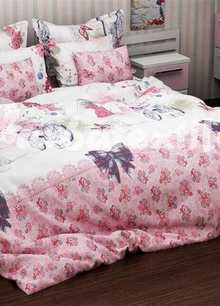 Стильный постельный набор в нежных тонах, есть полуторка, 2-спалка и евро