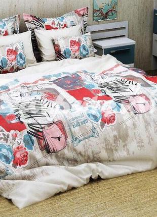 Яркое стильное постельное белье феше герл, новое