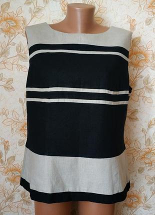 Классная блуза. лен. на бирке- 20 р-р(54)