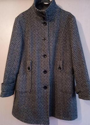 Шерстяное пальто большого размера5