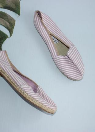 Graceland текстильные балетки, эспадрильи в полоску