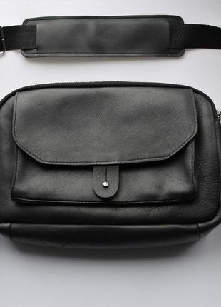Мужская небольшая сумка мессенджер кожаная