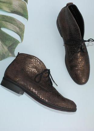 39,5 26см durea кожаные дезерты ботинки с медным напылением на низком ходу