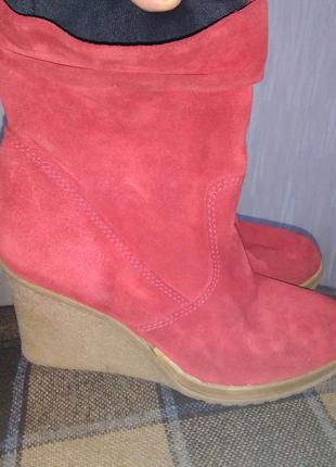 Ботинки демисезонные женские 39-40 натуральная замша платформа