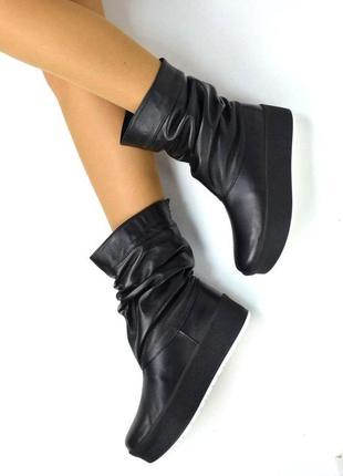 Сапоги чоботи угі уги сапожки натуральная кожа шкіра ботинки полусапоги черевики